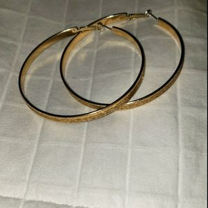 Large Gold Hoop Earrings that Sparkle